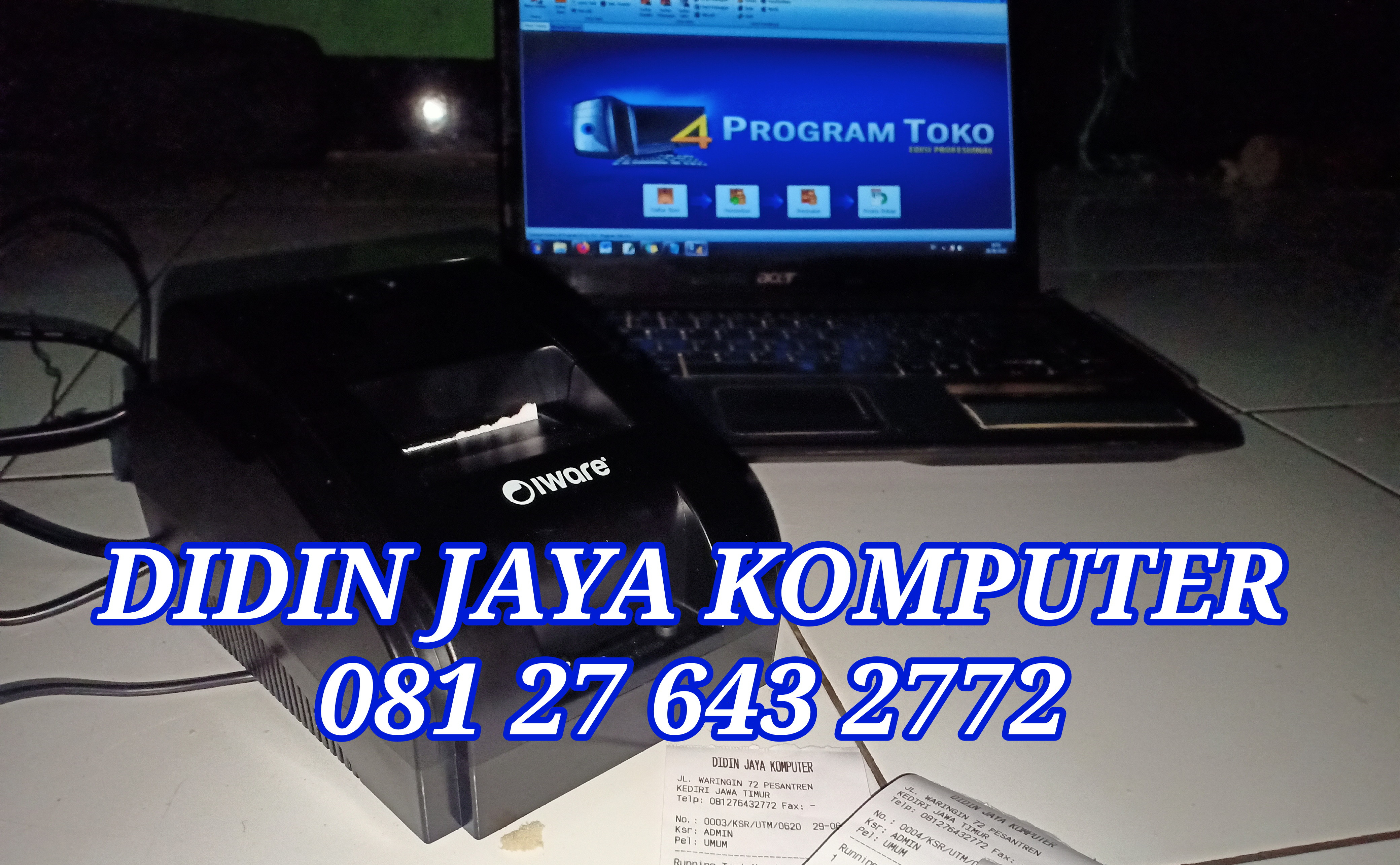 Jual software kasir dan printer thermal kasir deng