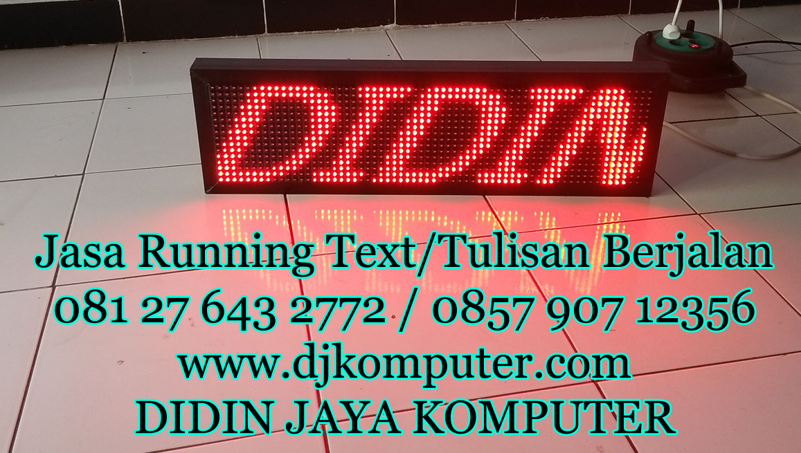 Running Text Ukuran 20x68cm